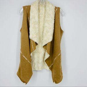 Double Zero Faux Leather Boho Vest Size S